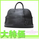 "47 HERMES large-capacity handbag ""ボリード"" black fjord H 刻 》 fs2gm fs2gm for 《"
