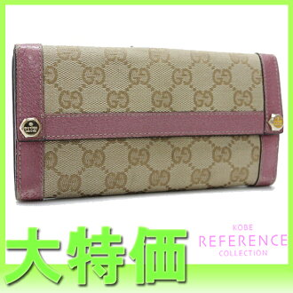 "Gucci CHARMY (charmy) GG W hook length wallet light beige / pink 153211 ""enabled."""