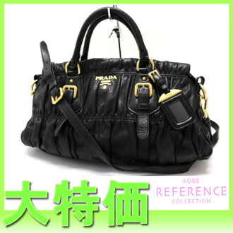 "Prada bag leather 2 WAY black ""response."""
