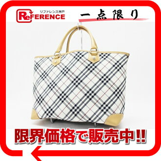 "Burberry Blue label check tote bag white series x beige ""response.""-fs3gm"