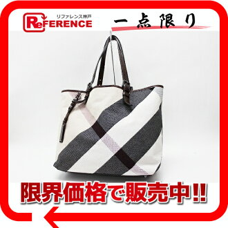 "Burberry check tote bag beige x Brown? s support.""fs3gm"