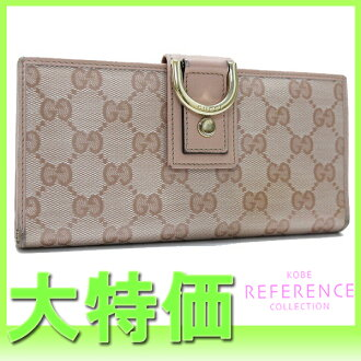 "Gucci NEW ABBEY (new by) Crystal GG two bi-fold wallet pink 141412 ""response.""-fs3gm"
