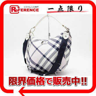 "Burberry Blue label check 2WAY shoulder bag light pink series ""correspondence."""