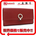 [BVLGARI] BVLGARI bulldog garfish logo clip W hook long wallet ruby red [used] [correspondence 》 fs2gm fs2gm tomorrow comfortable comfortable ギフ _ packing 】《]
