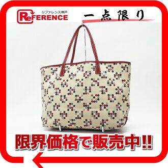 "Burberry Blue label canvas tote bag red x beige ""response.""-fs3gm"
