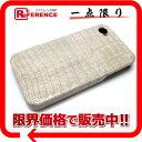 工房直売高級 本物クロコダイル iPhoneケース iPhone4/4S シルク 未使用 【中古】