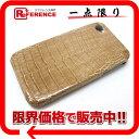 工房直売高級 本物クロコダイル iPhoneケース iPhone4/4S ベージュ系未使用 0601楽天カード分割