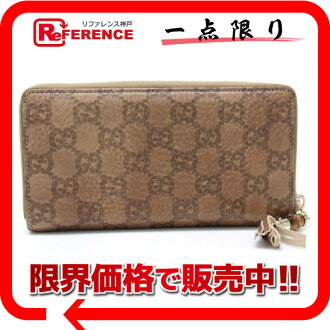 Gucci TASSEL( tassel) gucci sima round fastener long wallet light brown 224253 》 fs3gm for 《