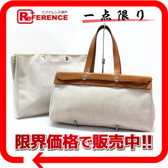 "Hermes airbag Cabas GM changing bag with natural F ticking ""response.""-fs3gm"