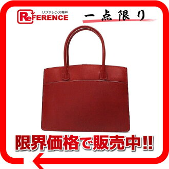 "HERMES Hand Bag ""White Bus TPM"" Boxcalf Leather Rouge"