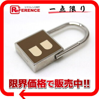 X silver 》 fs3gm of バリーカデナ type key ring Brown line for 《