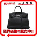 "35 HERMES highest peak handbag ""Birkin"" black silver metal fittings トゴ G 刻 》 fs2gm fs2gm for 《"