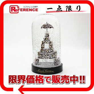 "Louis Vuitton Eiffel Tower motif snowdome trunk Tower N99229 ""enabled."""