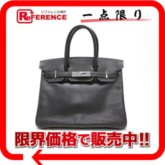 "Best Hermes handbag Birkin 30 graphite silver fittings Epson H engraved ""dealing."""