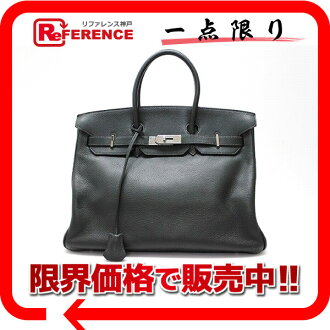 "Premier handbag Hermes ""Birkin 35"" khaki silver fittings fjord F ticking? s support."""