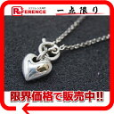 [HERMES] It is fs2gm fs2gm [free shipping] 925* HERMES heart link chain necklace silver K18 [correspondence  easy  _ packing tomorrow comfortable used ]
