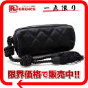 [CHANEL] It is fs2gm fs2gm the black [used] with the CHANEL satin quilting cosmetics porch fringe [correspondence  KK tomorrow comfortable comfortable  _ packing ]