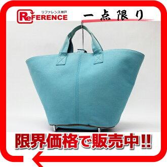 """Hermes Panier de Plage PM tote bag pouch blue """"response.""""-fs3gm"""
