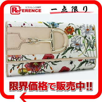 Gucci Flora W hook long wallet multicolored X light beige 137375 beautiful article 》 fs3gm 02P05Apr14M for 《