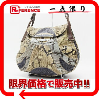 PRADA python patchwork shoulder bag beige system multicolored X brown 》 fs3gm for 《