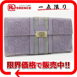 "Gucci TREASURE (treasure) guccissima W hook length wallet purple 150674 ""response.""-fs3gm02P05Apr14M02P02Aug14"