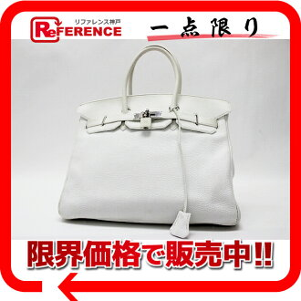 "35 HERMES highest peak handbag ""Birkin"" white silver metal fittings トゴ E 刻 》 fs3gm for 《"
