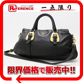 PRADA software calf 2WAY handbag black BN1903 》 fs3gm for 《