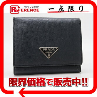 M176X 》 fs3gm of プラダサフィアーノレザー three fold wallet navy origin for 《
