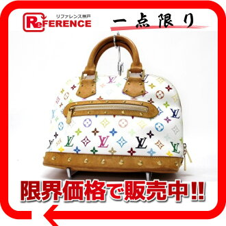 "Louis Vuitton monogram multicolored ""Al Mar"" handbag Bronn (white) M92647 》 fs3gm for 《"