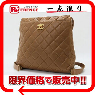 CHANEL lambskin quilting rucksack brown 》 fs3gm for 《