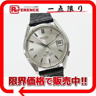 "Seiko Grand Seiko diamond shock men's watch SS first self-winding 6245-9001 antique ""response."""