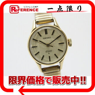 "Seiko special ladies watch 23 stone gold ceramic hand-wound 4502-7001 antique ""response."""