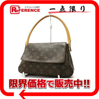 "Louis Vuitton Monogram shoulder bag ""ミニルーピング"" M51147 ""enabled."""