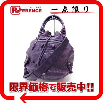 "Balenciaga ""ジャイアントポンポン"" covered 2-WAY bag purple series 204540 ""response.""-fs3gm"