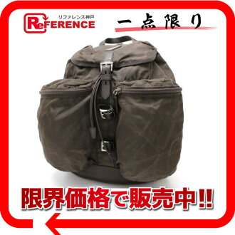 PRADA nylon rucksack brown 》 fs3gm for 《