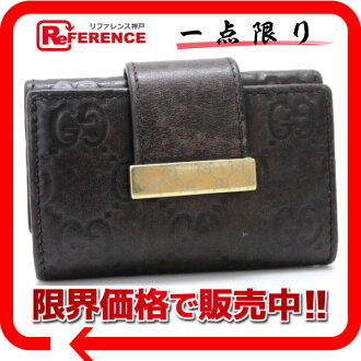 Gucci ICON BAR (symbol bar) guccissima fs3gm02P05Apr14M02P02Aug14 6-key case dark brown 212098? s support.""