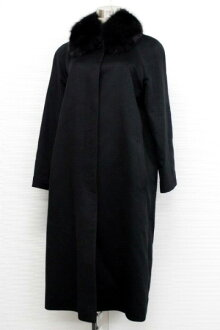 7 Fox fur cashmere coat black 》 fs3gm for 《
