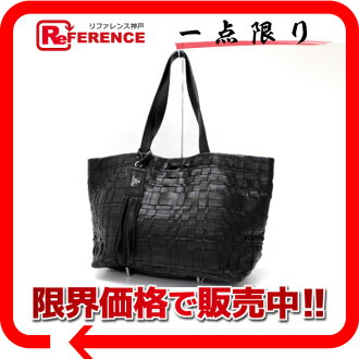 "Prada ナッパウィーブ Tote Bag Black BR3882 ""enabled."""