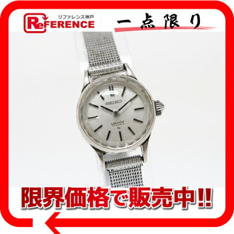 Seiko special 23 stone ladies watch-white gold hand-rolled fs3gm antique 1140-0060? s support.""