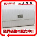 [BVLGARI] ブルガリミレリゲ two fold long wallet ダスティーホワイト 27711 [used] [correspondence 》 fs2gm fs2gm tomorrow comfortable comfortable ギフ _ packing 】《]