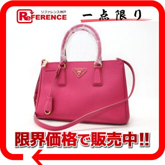 "Prada SAFFIANO LUX (サフィアーノリュクス) 2-WAY handbag Orquidea BN1801 unused ""response.""-fs3gm"