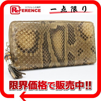 "Gucci TASSEL (tassel) Python zip around wallet beige of 224253? s support.""fs3gm"
