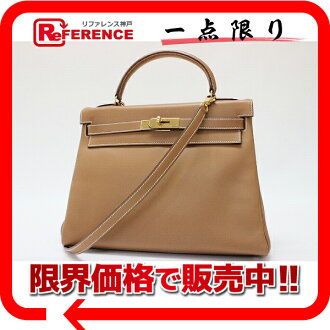 "Sew in a Hermes handbag ""Kelly 32"" with shoulder strap ヴォーガリバー gold gold bracket Y ticking ""response.""-fs3gm"