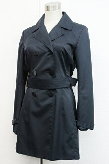 "Parka Womens trench coat 36 Navy ""response.""-fs3gm"