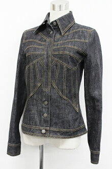 "Dolce & Gabbana Womens denim jacket blue s correspondence.""fs3gm"