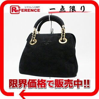 PRADA suede handbag black 》 fs3gm for 《