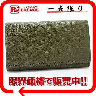 "Paul Smith leather Book 4 for key case green ""response.""-fs3gm"