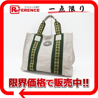 》 fs3gm 02P05Apr14M for 《 as well as Vivien waist Wood canvas tote bag gray system / green new article