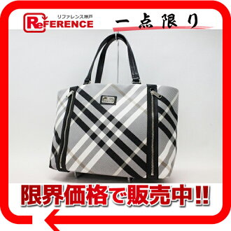 "Burberry Blue label check tote bag gray beauty products ""enabled."" fs3gm"