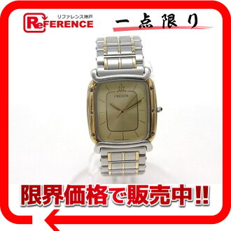 セイコークレドールメンズ watch SS/GP/18KT bezel quartz onyx Lew's 9571-5020 》 fs3gm for 《